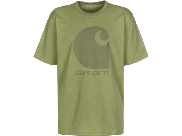 Carhartt C-Logo T-shirt Heren, oil green heather